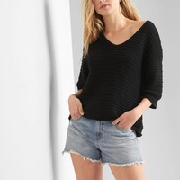 Textured V-neck sweater | Gap