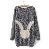 2013 autumn new European and American minimalist cartoon Joker round neck long sleeves women's jumper[299]