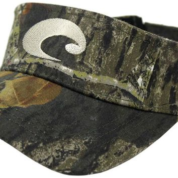Cotton Visor in Mossy Oak Camo by Costa Del Mar