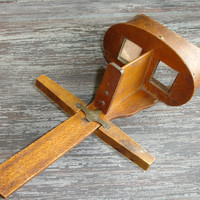 Antique Wood Stereoscope Viewer, Keystone View Company, Vintage Stereo Slide Viewer, Stereoview, Stereoscopic 3D View Finder, Stereograph