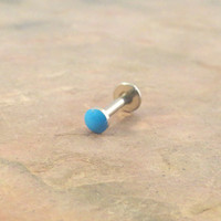 Turquoise Blue Cartliage Earring Tragus Helix Conch Piercing