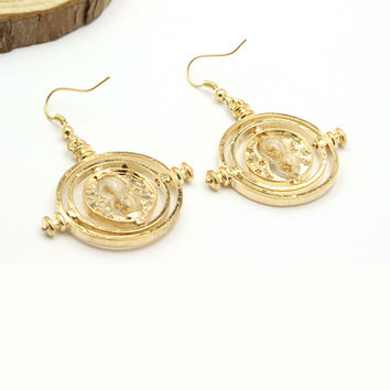 Free Shipping Hermione Time Converter Fashion Earrings 18 k Cool Charm Jewelry