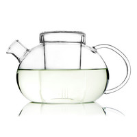 UNIHOM Grace Glass Teapot with Infuser Steeper Filter Strainer 1100ml / 38oz - Lead Free, Thermal insulation, Heat-resistent