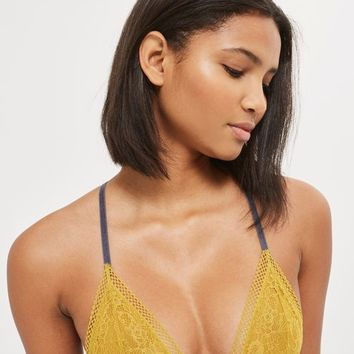 Lace Triangle Bra - Lingerie - Clothing