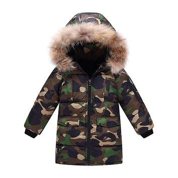 Boy's Camouflage Design Coat
