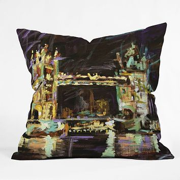 Ginette Fine Art Tower Bridge London Throw Pillow
