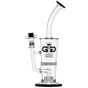 Grace Glass - Limited Edition Bubbler with Fritted Disc Perc & Showerhead Diffuser - Black