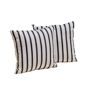 Sunbrella Lido Indigo Throw Pillow