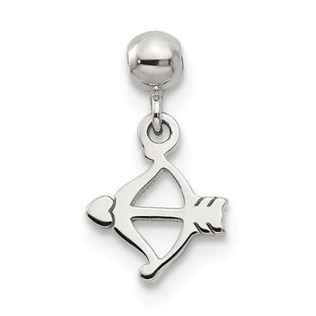 Sterling Silver Mio Memento Dangle Bow And Heart Arrow Charm
