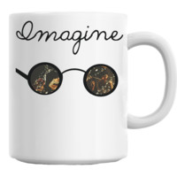 John Lennon Imagine Sunglasses Mug