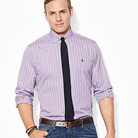 Polo Ralph Lauren Big & Tall Classic-Fit Multi-Striped Shirt - Lavende