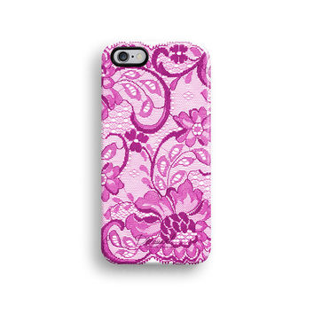 Pink lace iPhone 6 case, iPhone 6 plus case S510
