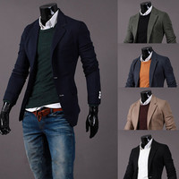 Modern Men's Fashion Design Blazer Jacket