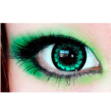 EOS Candy Magic King Size Green Colored Contacts Circle Lenses