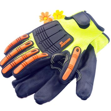 One Pair TPR Working Cut resistant Safety Glove self-defense supply Riding motorcycle racing gloves