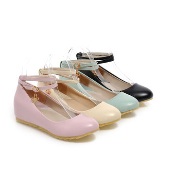 Ankle Straps Wedges Platform High Heels Fashion Women Shoes 4286