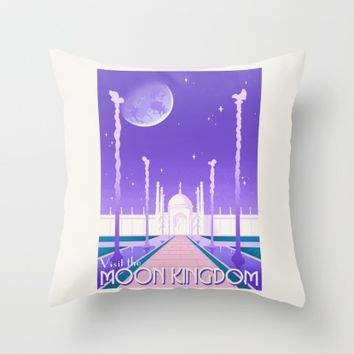 Visit the Moon Kingdom / Sailor Moon Throw Pillow by Lauren C Skinner