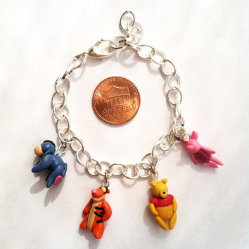 Winnie the Pooh and Friends Inspired Clay Charm by aWishUponACharm