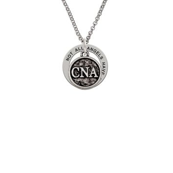 Nurse Caduceus Seal - CNA - Angels Wear Scrubs Affirmation Ring Necklace