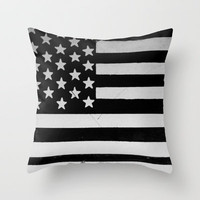 Grunge | American flag Throw Pillow by Taylor Whitehurst