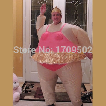 Newest Inflatable Ballet Costume Halloween Party Funny Fat Man Fancy Animal For Adults