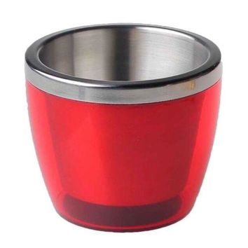 Stainless Steel Mini Ice Storage Bucket Wine Barrel red