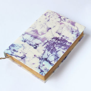 Journal, diary, notebook, old, dyed paper, batik fabric, blank book, antique book, travel journal