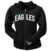 Philadelphia Eagles - Pep Rally Premium Juniors Full Zip Hoodie