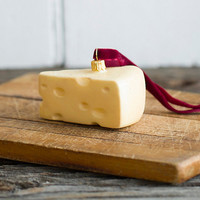 Glass Cheese Ornament