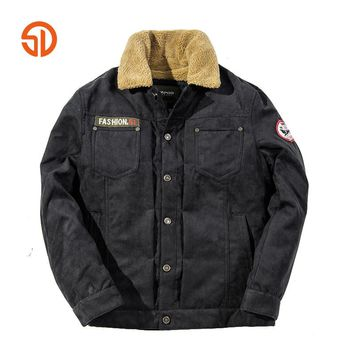 Winter Quilted Jacket Men Coat Leisure Style Long Sleeves Fleece Multi-pocket Plus Size M-3XL Quilting Quilted Jckets