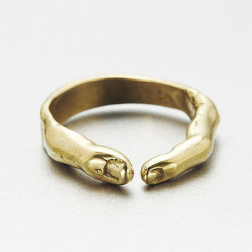verameat | yogi ring in brass