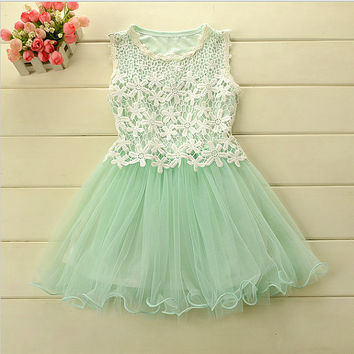 New Dress Promotion: Mint Green Girls Lace Dress,  flower girl dress, tutu dress