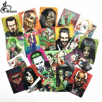 20pcs/lot American comic suicide squad stickers  Haley Quinn PVC waterproof suitcase notebook motorcycle guitar decals