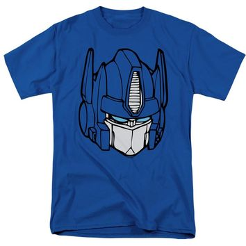 Transformers T-Shirt Optimus Prime Face Royal Tee