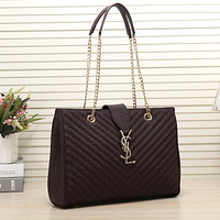 YSL Women Shopping Leather Chain Satchel Shoulder Bag Satchel Crossbody