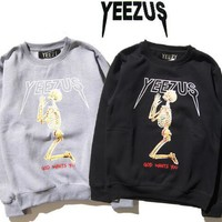 YEEZUS Sweatshirts Men Women GOD WANTS YOU Print Brand Clothing Pullover Hip Hop Sweatshirt