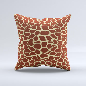 Simple Vector Giraffe Print Ink-Fuzed Decorative Throw Pillow