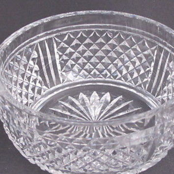 Signed  Webb Hand Cut Glass  bowl english blown blank