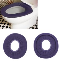 1pc Washable Cloth O-Shaped Warm Toilet Seat Cover Mat Pad For Bathroom Newest New Arrival