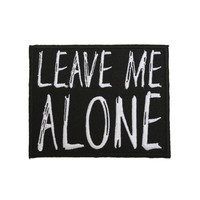 Licensed cool LEAVE ME ALONE Embroidered IRON ON Patch Badge for jeans backpack or purse NEW