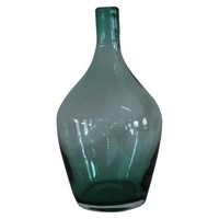 "Blue Moth Blown Glass Vase; 11.8"" height"