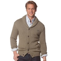 Chaps Solid Shawl-Collar Cardigan Sweater
