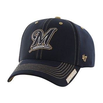 '47 Brand Milwaukee Brewers Dark Twig MVP Adjustable Baseball Cap - Adult, Size: One Size (Blue)