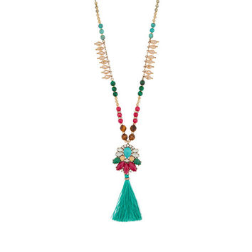 Bazaar Long Tassel Necklace