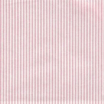 Thin Pink and White Stripe Fabric by the Yard | 100% Cotton