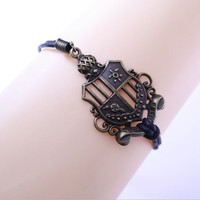 Harry Potter HP College badge Antique Bracelet