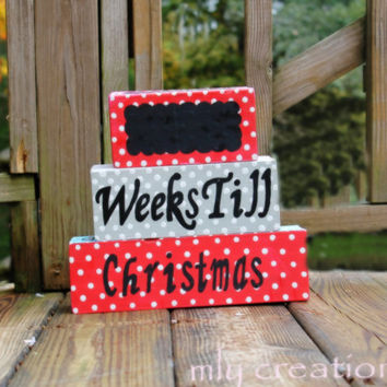 Christmas Countdown Blocks , Holiday Countdown Blocks , Days Until Christmas ,Christmas Blocks , Countdown to Santa, Christmas Gifts, Wood