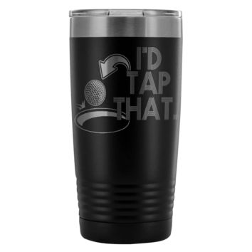 Funny Dad Golf Travel Mug Id Tap That 30 oz Stainless Steel Tumbler