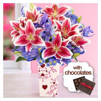 Valentine's Day Spectacular with Valentine's Day Vase & Chocolates