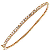 Silver or Gold-Overlay Cubic Zirconia Hinged Bangle Bracelet   Overstock.com Shopping - The Best Deals on Cubic Zirconia Bracelets